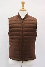 NWT $2430 Brunello Cucinelli Reversible Brown/Purple Puffer Goose Down Vest Sz M