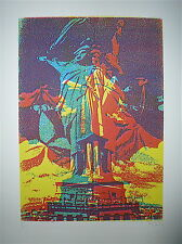 Bury Pol Lithographie signée Art Abstrait cinétique Paris statue of liberty USA