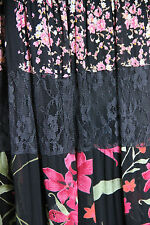 Black & Multi Floral Panel Hippychick Skirt - Shelly & Arnold - Small/Medium