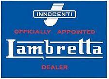 Lambretta Dealer steel fridge magnet   (fd)  REDUCED