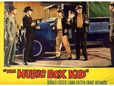Lobby Card 1960 MUSIC BOX KID machine guns Murder Inc.