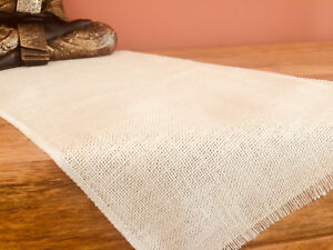 CREAM Rustic Burlap Jute Runners Wedding Hessian Table Cloth Runner 30cm wide