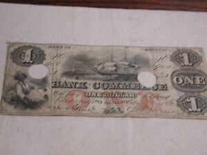 1861 CSA Georgia Bank of Commerce $1 Dollar Good condition