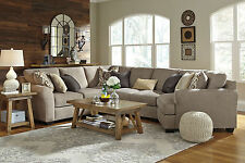 STERLING Modern Living Room Gray Microfiber Sofa Couch Sectional - 4 pieces Set