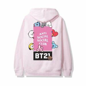 Anti Social Social Club x BT21 Madhouse Hoodie Pink Size S XL