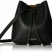 Calvin Klein Women's Sonoma Bubble Hobo Shoulder Crossbody Bucket Bag Black NEW