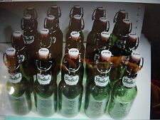 1 LOT 20 GROLSCH BEER SWING-TOP   BOTTLES EMPTY  GLASS HOME BREW
