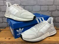 ADIDAS MENS UK 8 EU 42 ZX 500 WHITE SUEDE MESH TRAINERS RRP £130