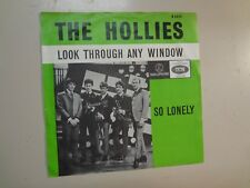 """HOLLIES: Look Through Any Window-So Lonely-Holland 7"""" 1965 Parlophone R 5322 PSL"""