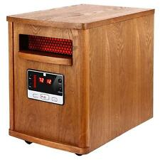 Electric Room Heater Quartz Infrared Remote Thermostat Floor Wood Furniture New