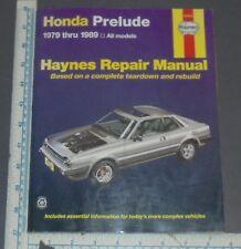 HAYNES HONDA PRELUDE 1979-1989 AUTOMOTIVE REPAIR MANUAL