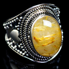 Rutilated Quartz 925 Sterling Silver Ring Size 6.75 Ana Co Jewelry R4768F