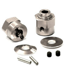 C24396SILVER Integy Billet Hex Wheel Hub Set(2)+5 Offset for Axial Wraith