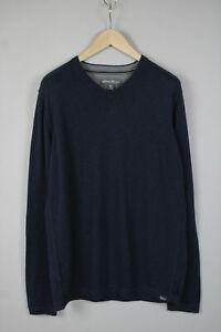 EDDIE BAUER FALL/HOL 17 Men's LARGE Merino Wool Blend Blue Sweater 17245_JS
