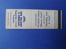 ODD FELLOWS & REBEKAHS HOSPITAL BED PROGRAM LONDON CANADA VINTAGE MATCHBOOK
