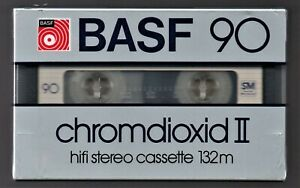 Cassette Audio Vierge BASF Chromdioxid II 90 - Neuve sous blister