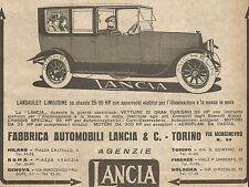 W9067 LANCIA - Landaulet Limousine - Pubblicità del 1917 - Vintage advertising
