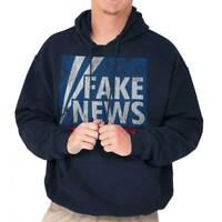 Fake News President Donald Trump Political Adult Long Sleeve Hoodie Sweatshirt