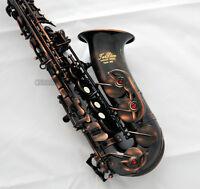 Professioanl Red Antique Brass TaiShan Alto Saxophone Sax Eb High F# With case
