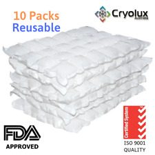 10 x Dry Gel Ice Packs Sheets Reusable-1KG- Cryolux-Australian Made-Best Value