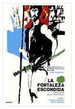 Cuban movie Poster for Japanese film Hidden Fortress.Mifune.KUROSAWA.Japan art