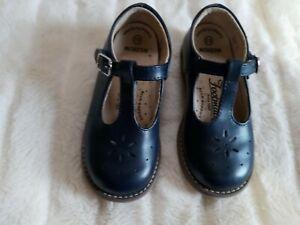 FOOTMATES Girls 9.5 Toddler Navy Sherry Leather Maryjane Shoes