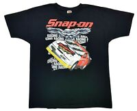 Vintage Snap On Tools Racing Tee Black Size XL Mens T Shirt