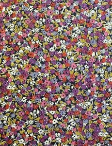 Liberty of London floral viscose jersey in purple and pink