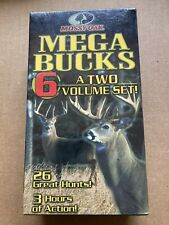 mossy oak mega bucks 6 two volume set VHS Tape New Sealed Year Made 2001