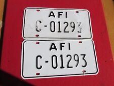US Armed Forces License plate ITALY jeep truck tank tractor Vehicle