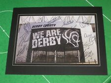 Derby County FC monté Stadium photographie signée X 20 2016/17 1st Team Squad