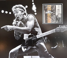 BRUCE SPRINGSTEEN Signed 17x15 Photo Display BORN IN THE USA COA