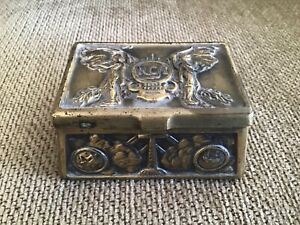 1920/30s Radio Corporation of America Decorative Bronze Metal Desk Box