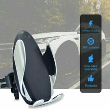 Smart S5 Auto Clamping Qi Wireless Car Charging Fast Charger Mount Phone Holder
