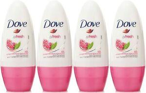 Dove Antiperspirant Deodorant Roll-On, Go Fresh Pomegranate & Lemon Verbena,...