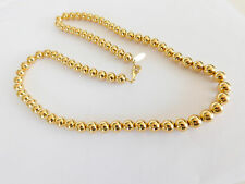 VINTAGE GOLD TONE SARAH COVENTRY BALL BEAD NECKLACE  23""