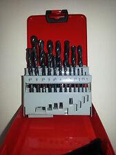 HSS-Spiralbohrersatz, rollgewalzt, in Metallkassette, 19-teilig 1-10x0,5 mm