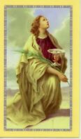 St. Lucy - Novena - Relic Laminated Holy Card - Blessed by Pope Francis
