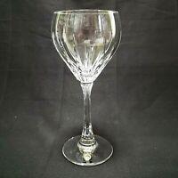 "CARICO Water Goblet Elegante Pattern Fine German Crystal Wine Glass Stemware 7"""