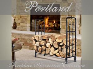 FIREPLACE Large Firewood Log Storage Rack / Wood Rack / Log Holder PORTLAND