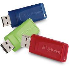 Verbatim Corporation 99811 3Pk 32Gb Store N Go Usb Flash Drive Red Blue Green