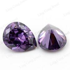 UNHEATED 25.60CT purple SAPPHIRE 20X15MM PEAR CUT AAA COLOR LOOSE GEMSTONE