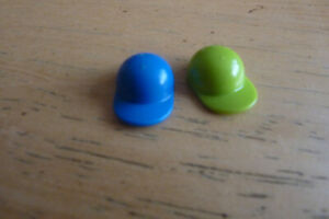 Lego Minifigure Green Cap /Blue CAP Accessory / Headgear / Spare Parts