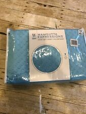 Twin Duvet + Pillow Sham Set New In Package Lagoon Blue Nubby Texture