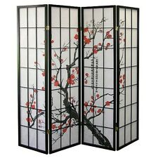4, 6, 8 Panel Plum Blossom Screen Room Divider
