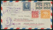 Mayfairstamps El Salvador 1946 To US RegistereD Airmail cover wwo1621