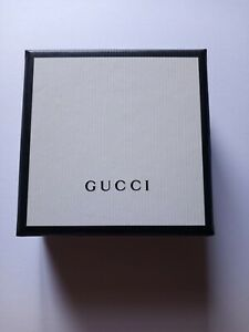 *AUTHENTIC GUCCI EARRINGS18K White Gold Tiny Double G Stud Pouch Box