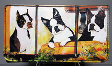 New Boston Terrier Pet Dog Check Book Wallet Ruth Maystead Back Zippered Pocket