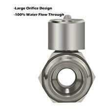 304 Stainless Steel Mini Ball Valve(1/2 Inch Female x Male NPT Thread Water Flow