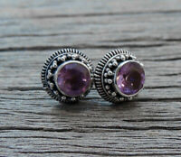 Amethyst Sterling Silver Post Earrings